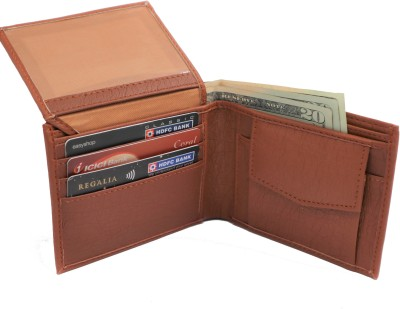 YOZE Men Brown Artificial Leather Wallet