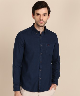 U.S. Polo Assn Men Solid Casual Blue Shirt