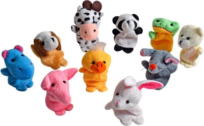 Miss & Chief Plush Animal Finger Puppets Premium Soft toy - Set of 10  - 4 cm