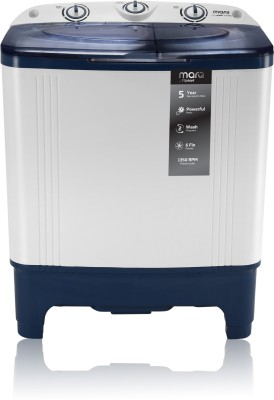 MarQ by Flipkart 6.5 kg Semi Automatic Top Load Washing Machine White, Blue