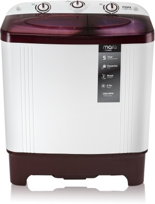 MarQ by Flipkart 6.2 kg Semi Automatic Top Load Washing Machine White, Maroon