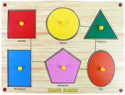 Miss & Chief Premium Wooden Shapes Educational Puzzle Toy