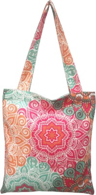 Kanyoga Cotton Polyester Mandala Printed Women's Fashion Tote Bag (Multicolor, 41 L x 34 W cm) Shoulder Bag