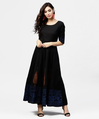 Nayo Women Maxi Black Dress