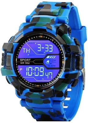 SD SHOP BLUE ARMY WATCH FOR KIDS & MEN Digital Watch  - For Boys