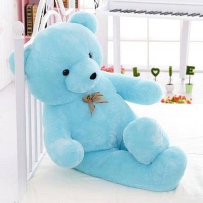 GIFTEE Sky Blue Imported Teddy Bear  - 91 cm
