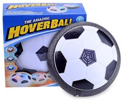 Amazing Toy Soccer Air Powered Hover Soccer Ball with Foam Bumpers and Colorful 3D LED Lights for Indoor & Outdoor Football