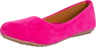 RazMaz Candy Color Trendy Slip On Suede Bellies For Women