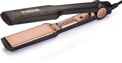 Nova Temperature Control Professional NanoTitanium Coated Wider Plates NHS 901 Hair Straightener