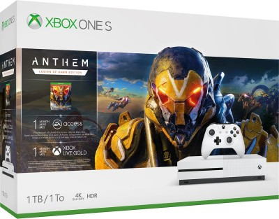 Microsoft Xbox One S 1 TB withAnthem Legion of Dawn, Player Unknown's Battlegrounds