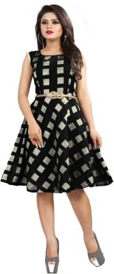 fabtown Women A-line Black Dress