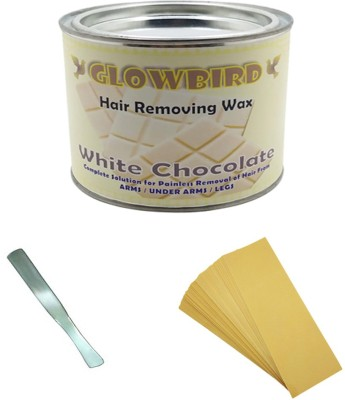Body Clean White Chocolate Wax 600 ml with 90 Strips and 01 Stainless Steel Wax Wax