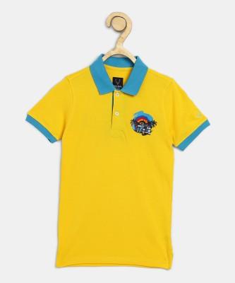 Allen Solly Junior Boys Solid Pure Cotton T Shirt
