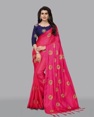 Fashion Ritmo Embroidered Bollywood Poly Silk Saree