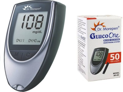Dr. Morepen Glucometer + 50 Strips Health Care Appliance Combo