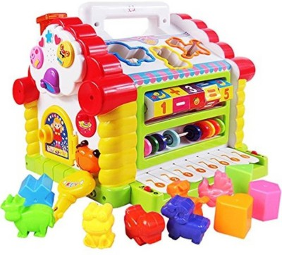 Miss & Chief Activity House with Shape Sorter, Sound Effects, Animal Sounds and Music