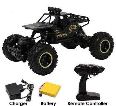 FIDDLERZ Remote Control Rock Crawler High Speed Monster Racing Car (Black)