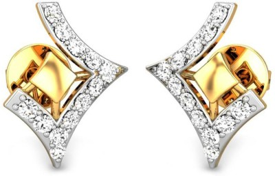 Candere by Kalyan Jewellers Yellow Gold 18kt Stud Earring