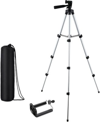 KBOOM Camera Tripod Stand With 3-Way Head Tripod for Digital Camera DV Camcorder, Tripod 3110 with mobile Phone holder mount Tripod