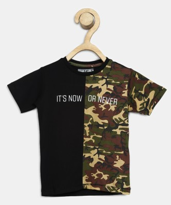 Flying machine kids Boys Military Camouflage Pure Cotton T Shirt