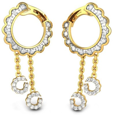 Candere by Kalyan Jewellers Yellow Gold 18kt Dangle Earring