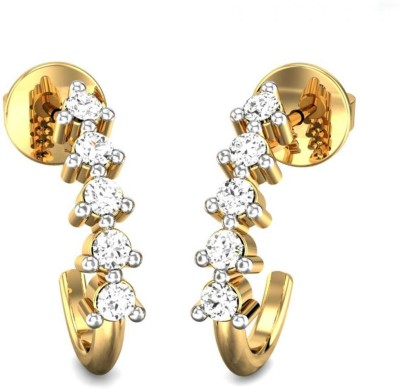 Candere by Kalyan Jewellers Yellow Gold 14kt Stud Earring