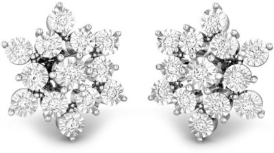 Candere by Kalyan Jewellers White Gold 14kt Stud Earring