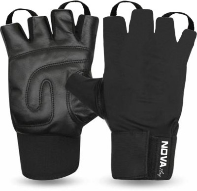 Nova Play Leather With Wrist Band Gym & Fitness Gloves
