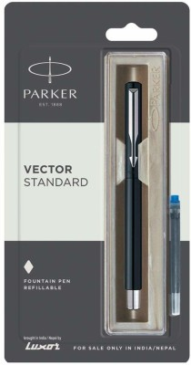 Parker VECTOR standard BLACK with 1 Ink cart Fountain Pen