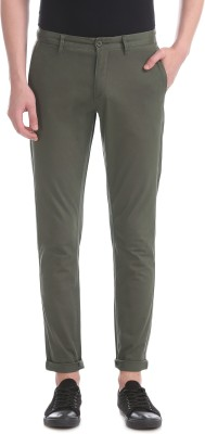 U.s.Polo Association Slim Fit Men Grey Trousers