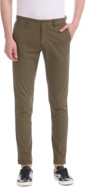 U.s.Polo Association Slim Fit Men Khaki Trousers
