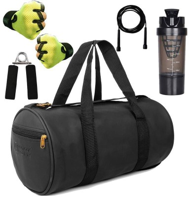 5 O' CLOCK SPORTS Combo Set Enclosed With Soft Leather Gym Bag For Men Fitness014 Gym & Fitness Kit