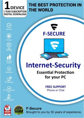 F-Secure 1 PC 1 Year Internet Security (Email Delivery - No CD)