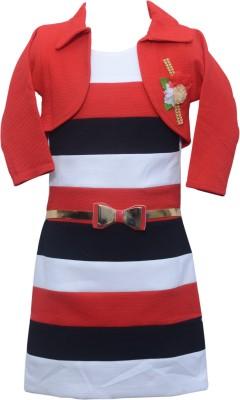 Sky Heights Girls Midi/Knee Length Party Dress
