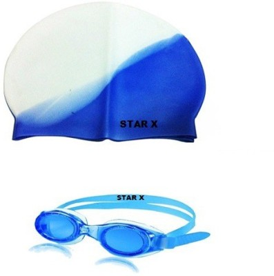Star X Combo of swmming cap & goggle Swimming Kit