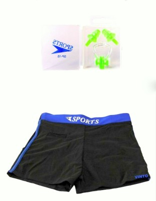 Vinto Special Combo 1 Male Free Size Costume,1 Ear Plug, 1 Nose Plug Swimming Kit