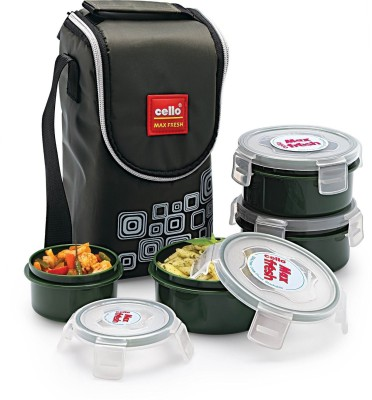 Cello Max Fresh Click 4 Containers Lunch Box