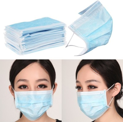 VMD 100pcs Disposable Face Masks Elastic Earloop Type Mask and Respirator