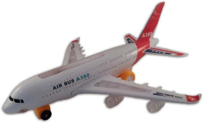 Sani International Airbus A380 Airplane Toy with Colorful Lights & Music