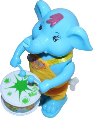 Play King Funny Windup Elephant Drummer Toy