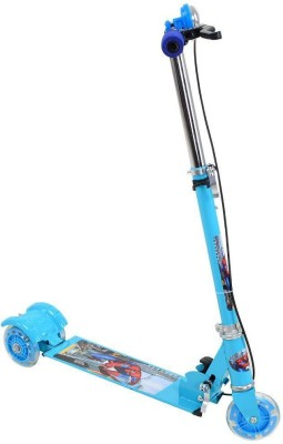 Mdfashion kart Blue 3 Wheel Skating Scooter With Shock Absorbers And Bell For Kids