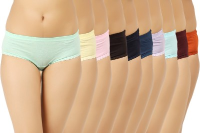 Vaishma Women's Hipster Green, Yellow, Blue, Pink, Brown, Dark Blue, Orange, Maroon, Purple, Blue Panty