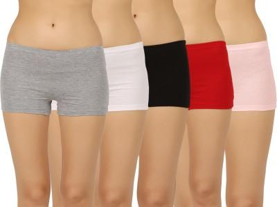 Vaishma Women's Boy Short Grey, Pink, White, Black, Red Panty
