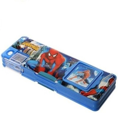 Ashmaadi Boys Cartoons/Characters with Calculator Art Plastic Pencil Box