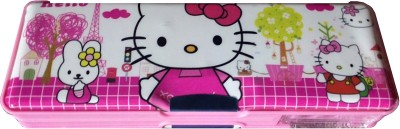 MVEshoppers KITTY-066 SPECIAL HELLO KITTY WITH DOUBLE SHARPNER Art PLASTIC Pencil Box