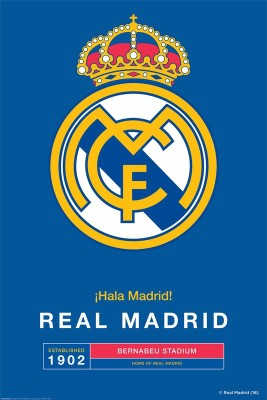 Real Madrid C.F. Large Poster Crest 33 Paper Print