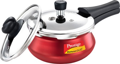 Prestige Deluxe Duo Plus 3.3 L Pressure Cooker with Induction Bottom