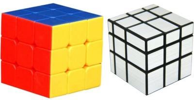 Vaniha Combo Mirror Cube Silver and Speed Cube Stickerless