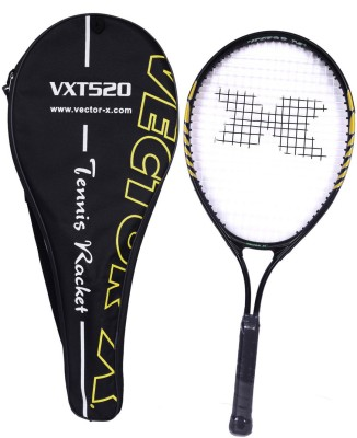 Vector X Vxt 520 25 inches with full cover Black, Yellow Strung Tennis Racquet
