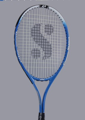 Silver's Flow 555 Gutted Blue, White, Black Strung Tennis Racquet